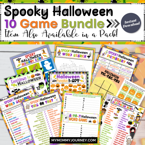 Spooky Halloween 10 Game Bundle Item also available in a pack