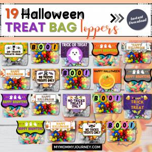 19 Halloween Treat Bag Toppers