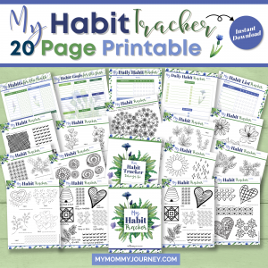 My Habit Tracker 20 Page Printable